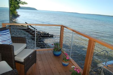 New small deck off living room