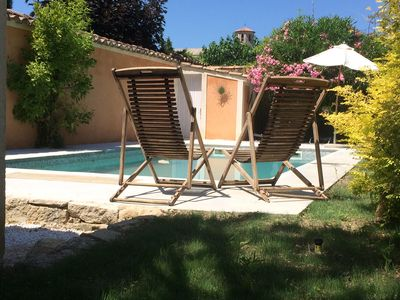 Photo for Charming villa in Caromb 6 to 8 people max with pool, sheets provided