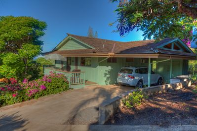 Our Private Ocean view cottage has its own covered carport