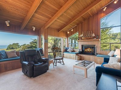 Photo for Spacious Meadow Escape with Hot Tub, Deck, Ocean View & Fireplace- Viglione