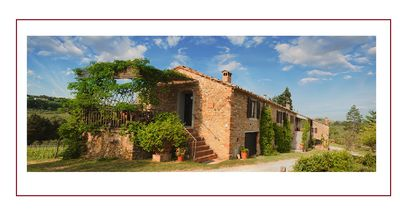 Photo for Farmhouse in Tuscany among vineyards and olive groves with swimming pool and large park-garden