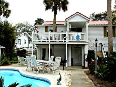 Photo for Folly Cottage ~ 3 Bedroom Downstairs Apt. w/Pool Access!