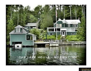 Photo for Lake Front 3 Season House with Private Deck