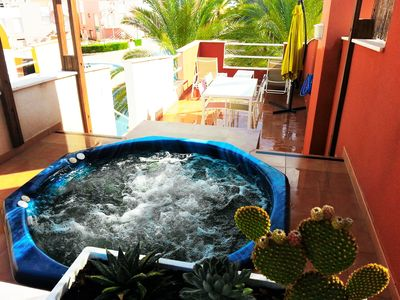 Photo for OFFER 2SEMAN OF JULY APARTMENT VERA PALMERA JACUZZI PRIVATE AND WIFI