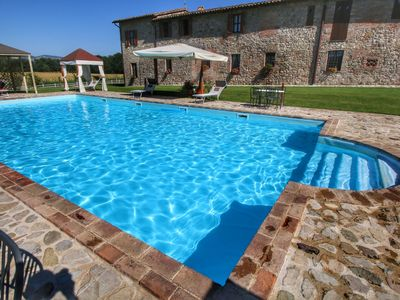 Photo for Robust old farmhouse for 4 persons amidst the Umbrian hills