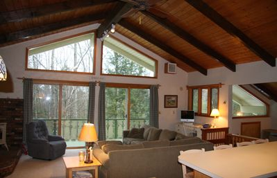 Quiet mountain getaway,  Updated 3 BR Chalet. Great reviews! WIFI&cell reception