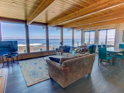 Photo for Amazing Panoramic Ocean Views in Yachats, 2 Fireplaces! Free Night!