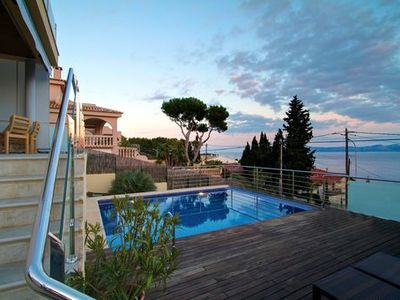 Photo for Stylish, modern villa with sea views in Alcanada