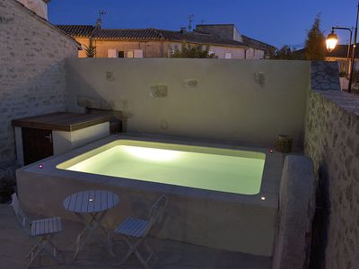 Photo for Restored oil mill, swimming pool and terrace, near Sommières Languedoc