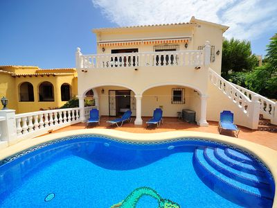 Photo for This 3-bedroom villa for up to 6 guests is located in Benitachell/El Poble Nou de Benitatxell and ha