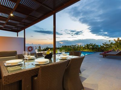Photo for Modern villa w/ private pool & stunning ocean views from terrace - beach nearby!