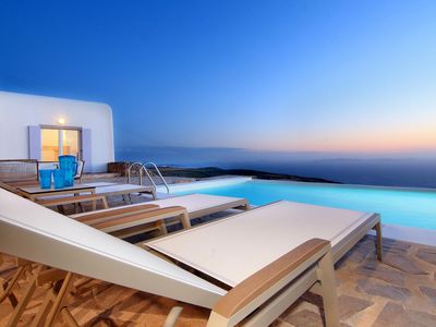 Photo for Villa Anastasia Mykonos 4 bedrooms 4 bathrooms up to 8 guests, Private Pool. Breathtaking villa with its idyllic setting !