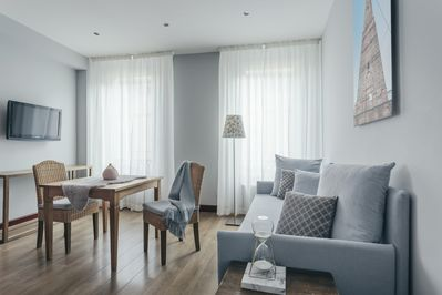 """Three room apartment """"Asinelli"""" (5 guests) living area"""