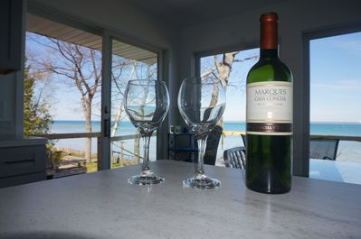 Enjoy the views with a glass of wine