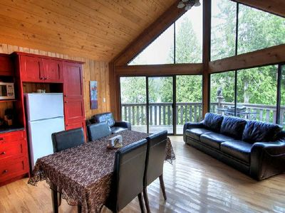Photo for 1 Bedroom Oceanview Chalet with Free Kayak Rental and BBQ on Deck!