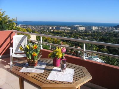 Photo for Apartment overlooking Sea and private garage in Mandelieu-La Napoule