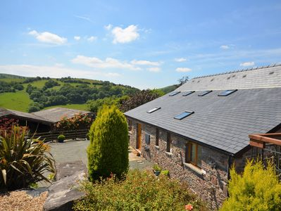 Beautifully converted  Welsh bull pen, set in an elevated position over rolling countryside