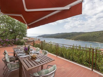 Photo for Two bedroom apartment with terrace and sea view Rabac, Labin (A-7629-a)