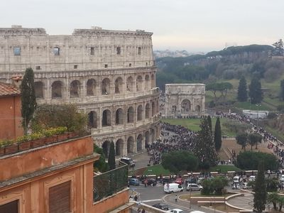 Photo for SUPERATTIC APARTMENT WITH SPLENDID TERRACE ON THE COLOSSEUM, BREATHTAKING VIEW
