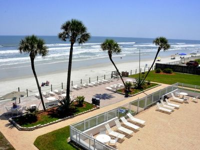 Photo for Cute 2/2!Direct Oceanfront Complex on the No Drive Beach in NSB!