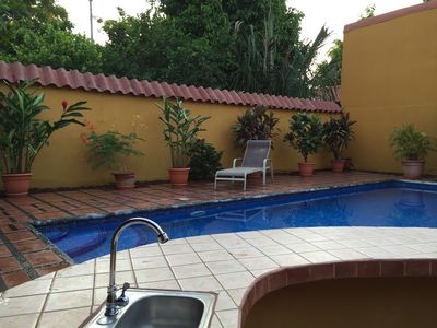 Photo for Private home with pool and only a block to the beach, restaurants, nightlife...