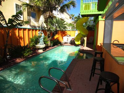 Photo for DIRECT BEACH ACCESS/HGTV Featured/ Pool/ Outdoor bar area/2 story slide