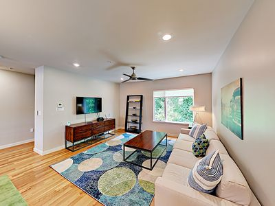Living Room - Welcome to Asheville, NC! This posh townhouse is professionally managed by TurnKey Vacation Rentals.