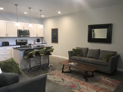 Open kitchen and living area