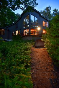 Front of house facing Lake Michigan.  Path to beach.  photo by guest J.Starks