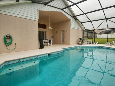 Photo for 10 MIN. FROM DISNEY, LARGE PRIVATE POOL, BBQ GRILL, FREE WIFI, COMMUNITY TENNIS