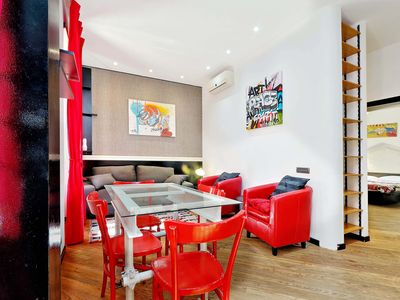 Photo for Cool and trendy one bedroom apartment with a garden, for up to four people, located west of the city