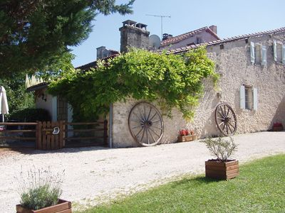 Photo for Charming Brantome Gite located in 10 acres parkland,  pool, BBQ, pets welcome