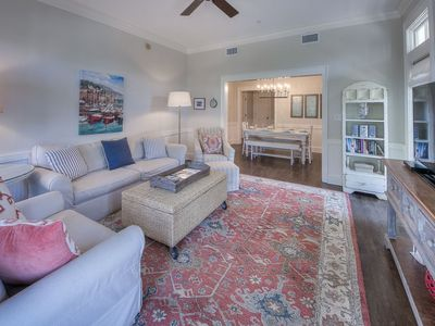 Photo for Steps to Beach Club & Shops | Updated 2 BR + Bunk | Perfect Family Spot!