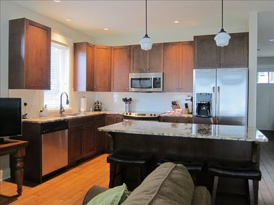 Fabulous kitchen area easily accommodates multiple chefs. Lots of cupboard space