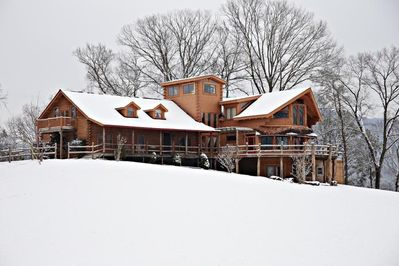 Enjoy the Lodge in WINTER!! Warm up in the hot tub, sauna, or by the  fireplace.