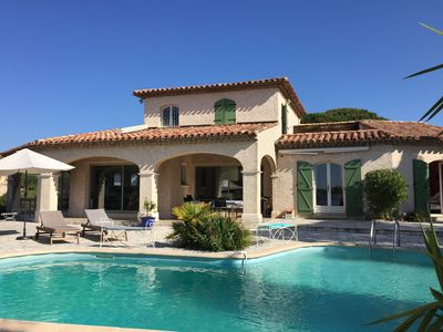 Photo for LARGE AIR CONDITIONED **** VILLA NEAR THE BEACH, SAINT AYGULF GOLFE ST TROPEZ