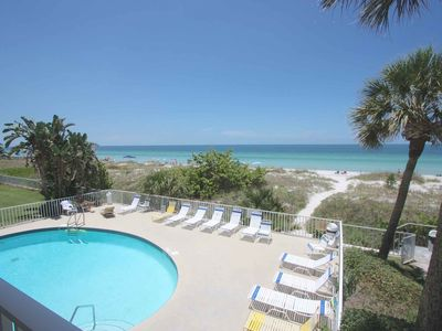 Photo for Beachfront Beauty with Gulf View Balcony, Gourmet Kitchen, Free Wi-Fi & cable, Pool-105 Hamilton