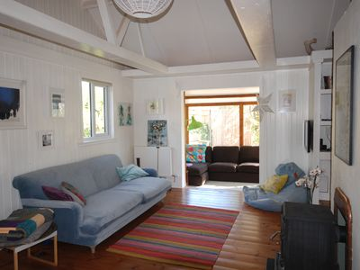 Photo for Porthcurno, walking distance from the beach and Minack, family and pet friendly