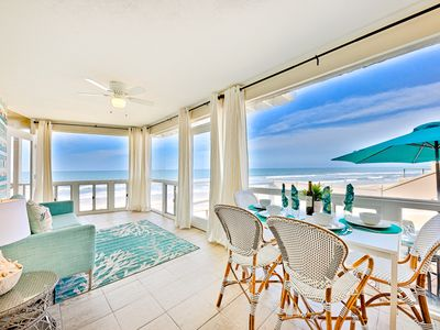 Photo for Beautiful Oceanfront Home w/ Endless Water Views + Walk to All