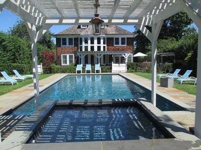 Photo for Incredible Southampton village Getaway, total privacy, huge sun trenched pool