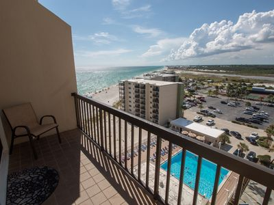 Photo for 2 BR •  2.5 BA • Sleeps 8 - Pinnacle Port 928 - Beach Front! Newly Renovated!