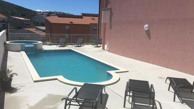 Photo for Green Apartment  Ćosić, shared outdoor pool, parking, BBQ, great for families
