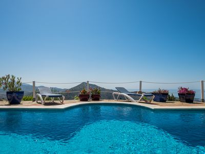 Photo for Stylish villa, pool, sea view, wifi, aircon, quiet spot, private, Costa del Sol