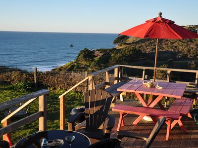 Photo for Driftwood Bungalow MENDOCINO COAST Ocean Front, Private Path to Beach HOT TUB
