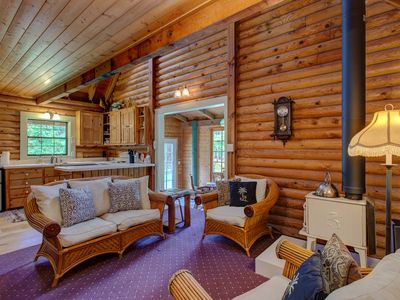 Photo for Beautiful Log Cabin on Private, Landscaped 3 Acres in Volcano, Hawaii!