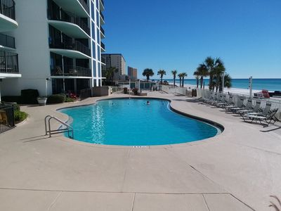 Photo for WATERCREST 2bd oceanfront condo June 22nd week OPEN Free Beach Service Included