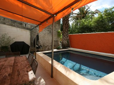 Photo for Village renovated stone house, garden, terrace, swimming pool
