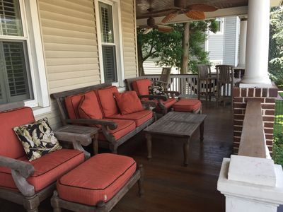Relax on the large wrap around porch