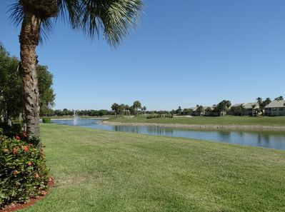 TS2502 - Wonderful long lake and golf course view from the lanai and living area.