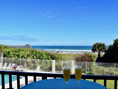 Photo for On the beach & steps to the pier. Enjoy beautiful views from your direct oceanfront balcony!